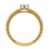 0.81 Carat Vintage Solitaire Wedding Ring 14K Gold (G,I1) - Yellow Gold