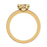 0.75 Carat Simple Vintage Engagement Ring 14K Gold (I,I1) - Yellow Gold