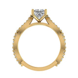 Princess-Cut Solitaire Diamond Braided Shank Engagement Ring 18K Gold (G,VS) - Yellow Gold