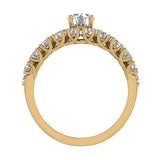 Trellis Round Diamond Wedding Ring Set 2.05 ctw 18K Gold (G,SI) - Yellow Gold