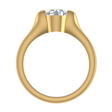 Classic Round Solitaire Diamond Engagement Ring 1.00 ctw 14K Gold (G,I1) - Yellow Gold