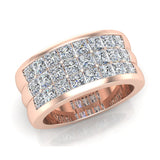 Luminous Princess Halfway Diamond Wedding Band 2.40 ctw 18K Gold (G,SI) - Rose Gold