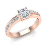 Minimalist Promise Diamond Ring 0.78 Ctw 14K Gold (G,I1) - Rose Gold