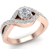 Diamond Engagement Ring 14k Gold 0.80 ct tw (G,SI) - Rose Gold