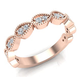 Stacking Diamond Wedding or Anniversary Band Enthralling Infinity Style Round 0.25 ctw 14K Gold (I,I1) - Rose Gold