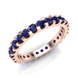 Gemstone 2.25 mm Stackable Eternity Band 14K Gold - Rose Gold