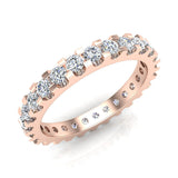 Diamond 2.25 mm Stackable Eternity Band 18K Gold (G,VS) - Rose Gold