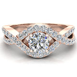 Diamond Engagement Ring 14k Gold 0.80 ct tw (G,I1) - Rose Gold