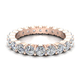 Round Eternity Diamond Wedding Band 2.42 ctw 18K Gold (G,SI) - Rose Gold