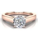 Round Brilliant Cut Diamond Engagement Ring 14K Gold (G,I1) - Rose Gold