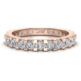 Diamond 2.25 mm Stackable Eternity Band 14K Gold (I,I1) - Rose Gold