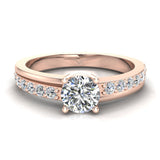 Minimalist Promise Diamond Ring 0.78 Ctw 14K Gold (I,I1) - Rose Gold