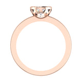 0.75 Carat Simple Vintage Engagement Ring 14K Gold (I,I1) - Rose Gold