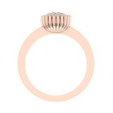 Vintage Diamond Cluster Fashion Ring Stackable Bands 0.21 Carat Total Weight 18K Gold (G,VS) - Rose Gold