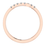 Sideways Cross Diamond Ring 14k Gold (I,I1) - Rose Gold
