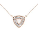 0.15 cttw Diamond Triangle or Trillion Necklace in 14K Yellow Gold on Sterling - Yellow Gold