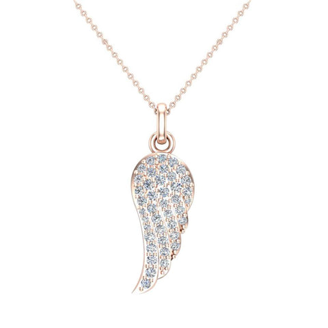 047 ct tw angel wing diamond pendant necklace 14k gold i ji1 i2 047 ct tw angel wing diamond pendant necklace 14k gold ii1 mozeypictures Gallery