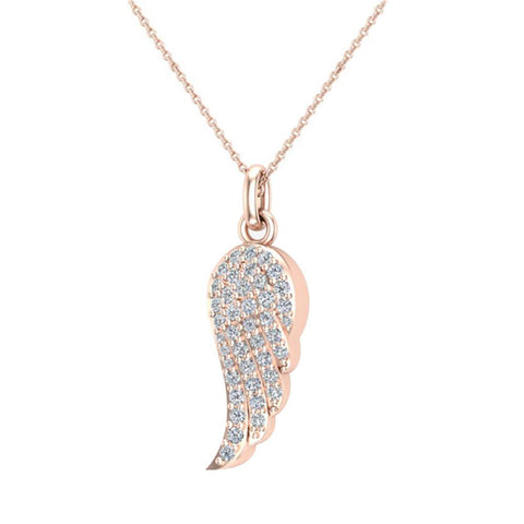 14 ct Yellow Gold Diamond Cut Angel Pendant Necklace (Comes With an 18