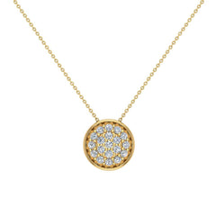 0.62 ct tw Diamond Button Necklace 18K Gold in Yellow Gold