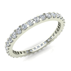 Diamond Eternity Wedding Anniversary Band Ring In White Gold