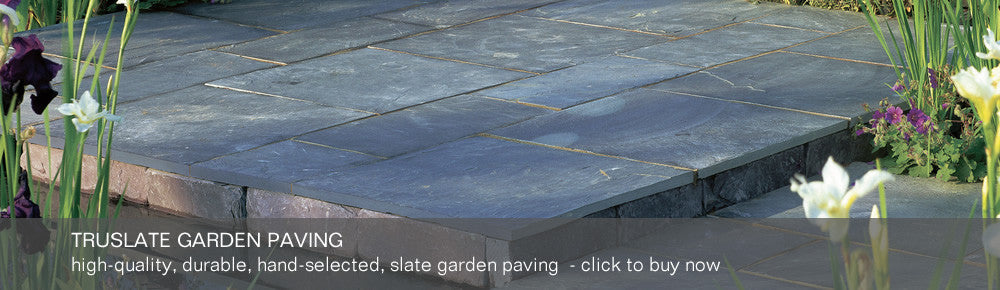 Truslate Garden Paving - high-quality, durable, hand-selected slate garden paving - click to buy now