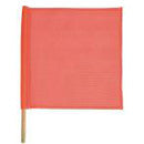 FLAG 18X18 MESH FLORESCENT ORANGE SAFETY FLAG WITH DOW