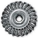"WEILER 4"" WIRE WHEEL BRUSH .020 WIRE 5/8-11 ARBOR"