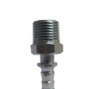 "NIPPLE 3/8""X1/2""  MALE STEEL HOSE END"