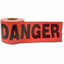 3X300' PRINT DANGER TAPE BLACK/RED