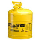 JUSTRITE 5 GALLON YELLOW STORAGE CAN