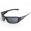 BRAZEAU DESIGNER- BLACK/ SKULL POLARIZED SMOKE