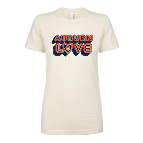 Vintage Auburn Love Ladies Tee