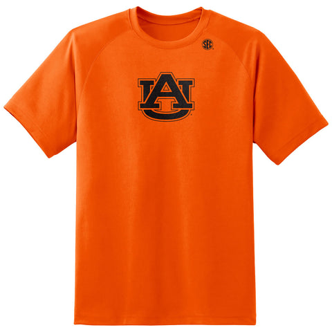 Neon Orange Polyester Logo Tee