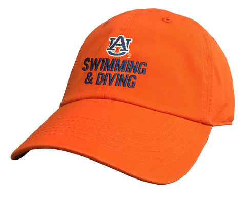 Auburn Swimming & Diving Orange Cap