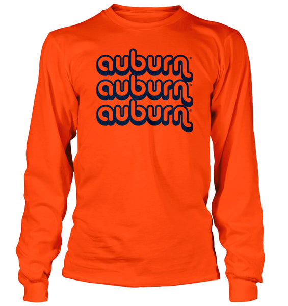 Auburn Retro on Orange