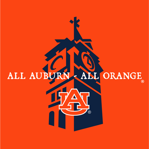 All Auburn All Orange Decal