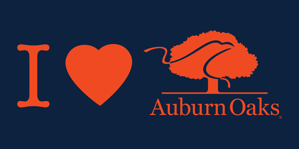 I Heart Auburn Oaks Horizontal Decal