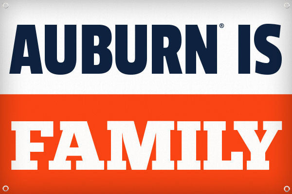 Auburn is Family - 2ft x 3ft