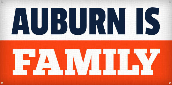 Auburn is Family - 3ft x 6ft