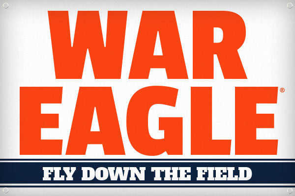 War Eagle Fly Down the Field - 2ft x 3ft