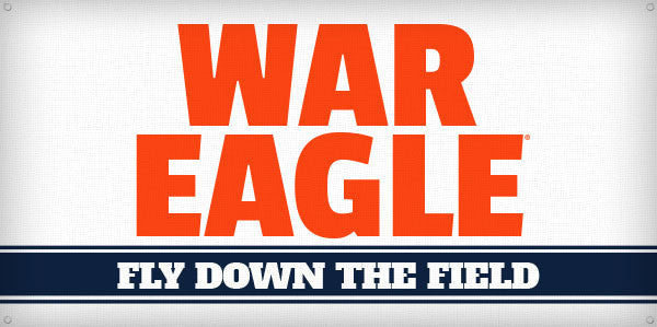 War Eagle Fly Down the Field - 3ft x 6ft
