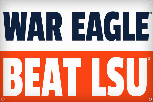 War Eagle Beat LSU - 2ft x 3ft