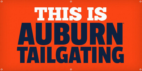 This is Auburn Tailgating - 3ft x 6ft