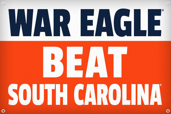 War Eagle Beat South Carolina - 2ft x 3ft
