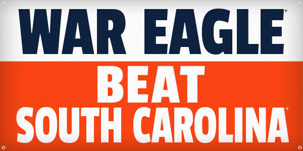 War Eagle Beat South Carolina - 3ft x 6ft