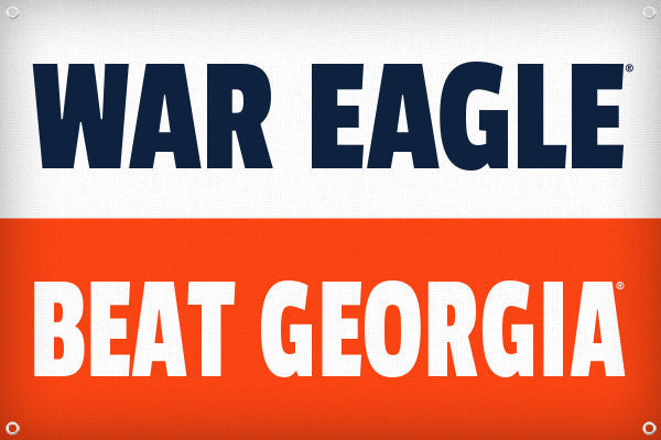 War Eagle Beat Georgia - 2ft x 3ft