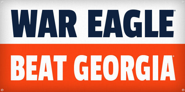 War Eagle Beat Georgia - 3ft x 6ft