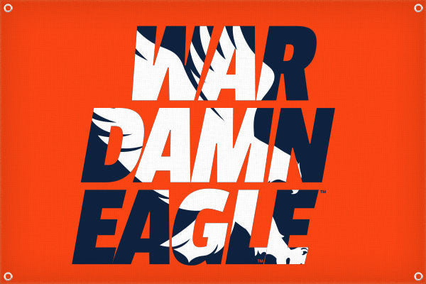 War Damn Eagle Silhouette - 2ft x 3ft