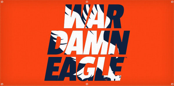 War Damn Eagle Silhouette - 3ft x 6ft