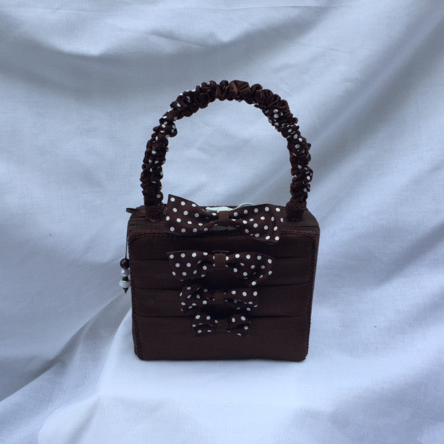 Brown Purse with Polka Dot Bows